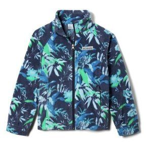 Columbia Blue Floral Fleece Girls Jacket NWT. Baby